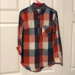 Merona red white and blue tunic shirt